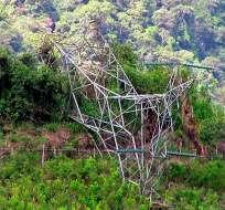 Ataque en Nariño, Colombia, dejó sin energía a unas 300 mil personas. Foto: Twitter Caracol Noticias