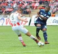El delantero de Emelec regresaría para el partido ante River Plate en Argentina. Foto: API