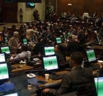 Tras más de diez horas, la moción registró 128 votos a favor y 3 abstenciones. Foto: API