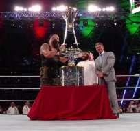 Braun Strowman fue el ganador del Royal Rumble más grande de la historia. Foto: Tomada de @WWE