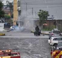 El Grupo de Intervención y Rescate ejecutó detonaciones controladas. Foto: Cortesía
