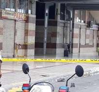 El objeto despertó temor entre los usuarios del lugar tras amenazas de bomba en otras ciudades. Foto: Twitter Policía