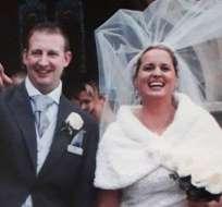"""Samantha y su esposo """"Dixie"""" Dixon en su día de bodas."""