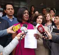 QUITO, Ecuador.- La actual legisladora nacional se desafilia del movimiento que ayudó a fundar en 2010. Foto: API