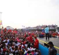 Mandatario se mostró furioso durante un mitin en el estado Vargas (norte). Foto: Twitter @PresidencialVen