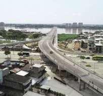 Viaducto contempla 4 carriles vehiculares, 2 de servicio, ciclovía y un carril peatonal. Foto: Cortesía