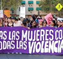 En los últimos cinco años, un 38,2% de las mujeres chilenas han declarado haber sido víctima de agresión. Foto: El Desconcierto