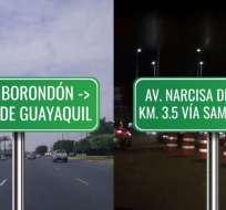 La prueba se realizó para comprobar cuánto se demoraba el recorrido entre ambas localidades. Foto: Ecuavisa.
