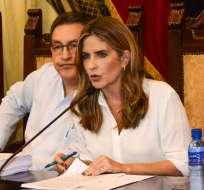 Doménica Tabacchi declina su precandidatura a la Alcaldía de Guayaquil. Foto: @dometabacchi