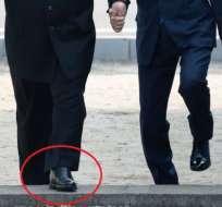 Los zapatos de Kim Jong-un llamaron la atención de algunos expertos.