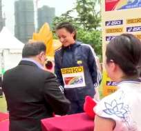 La ecuatoriana quedó segunda en 10km individual y eso ayudó para lograr presea por equipos. Foto: Tomada de @DeporteEc
