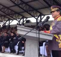 General Edison Narváez no ha explicado los motivos por los que abandona las FF.AA. Foto: Archivo Ministerio de Defensa