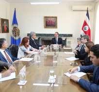 Mandatario está en Costa Rica por la toma de mando del presidente electo Carlos Alvarado. Foto: Twitter Moreno