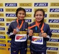 Paula Torres y Glenda Morejón, entre otros atletas consiguieron ubicar a Ecuador en tercer puesto. Foto: COE