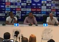 GUAYAQUIL, Ecuador.- El técnico uruguayo señala que dirigirá dos partidos más: Delfín y Flamengo. Foto: Alejandro Bellolio