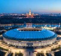 MOSCÚ, Rusia.- El estadio Luzhniki será la sede del partido inaugural y clausura del Mundial. Foto: AFP