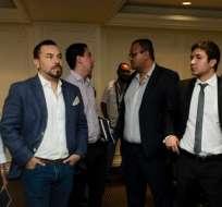 Juan Alfredo Cuentas (i.) aseguró que él no estará en el directorio de la Liga Profesional. Foto: API