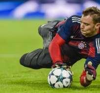 El portero alemán está lesionado desde septiembre pasado. Foto: GUENTER SCHIFFMANN / AFP
