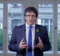 El líder independentista designó a un sucesor, el diputado Quim Torra. Foto: AFP