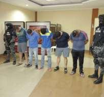 Los apresados son acusados de secuestrar al abogado de la pareja de 'Gerald'. Foto: Policía.