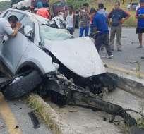 De los seis heridos, dos pacientes fueron atendidos en sitio. Foto: Ecuavisa