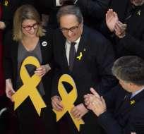 CATALUÑA.- Quim Torra, un independentista del ala dura, fue investido como nuevo presidente de Cataluña. Foto: AFP