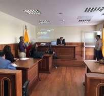 En la audiencia, el juez Molina ratificó la prisión preventiva contra los procesados. Foto: Twitter Fiscalía