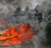 Las protestas en la frontera de Gaza dejaron este lunes más de 50 muertos.