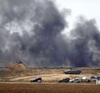 Casi 60 personas que murieron baleadas por las fuerzas israelíes. Foto: AFP
