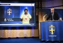 El entrenador Janne Andersson anunció a los 23 elegidos. Foto: Jonathan NACKSTRAND / AFP