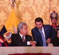 QUITO, Ecuador.- Paúl Granda pasa del ministerio de Obras Públicas a la Secretaría de Gestión Política. Foto: Presidencia