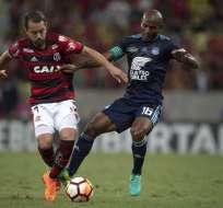 El cuadro 'millonario' perdió 2-0 ante Flamengo en Río de Janeiro. Foto: MAURO PIMENTEL / AFP