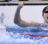 Ledecky, de 21 años, realizó la hazaña en su debut profesional en American Swimming Pro. - Foto: CNN
