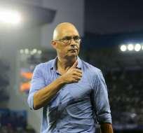 Alfredo Arias había manifestado que el partido contra Flamengo iba a ser su último cotejo dirigiendo Emelec. Foto: API