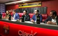 El presidente y vicepresidente deportivo del club dieron anuncios. Foto: Tomada de la cuenta @barcelonaSC