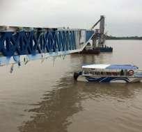 Con observaciones se reconstruye el puente de la Isla Santay. Foto: API