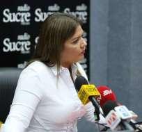 Vicuña no está de acuerdo con juicio político a la canciller Espinosa. Foto: Twitter María Alejandra Vicuña.