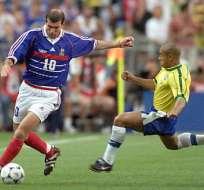 La final del mundial de Francia 98 se disputó entre Francia y Brasil, el anfitrión ganó 3-0. Foto: AFP