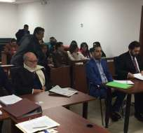 La audiencia inició pasadas las 07H30 de este viernes en el Complejo Judicial en Quito. Foto: @panchogarces