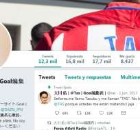 Tasuku Okawa tuvo una confusión similar con hinchas del Atlético de Madrid.
