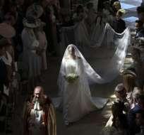 El vestido reflejó fielmente el estilo sencillo y elegante de la nueva duquesa de Sussex. Foto: AFP