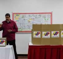 El presidente venezolano, Nicolás Maduro, durante las elecciones. Foto: AFP