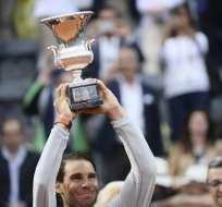 El español venció en la final del Masters 1000 a Alexander Zverev por 6-1;1-6 y 6-3. Foto: Filippo MONTEFORTE / AFP