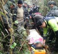 Acudieron la Policía Nacional, los Bomberos, las Fuerzas Armadas y el Ministerio de Salud. - Foto: Cortesía FF.AA.
