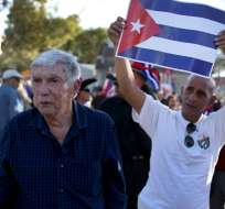 Posada Carriles (izquierda), en 2014. Foto: AFP