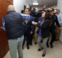 Audiencia en contra de Mario Pazmiño, querellante José Serrano no llegó a tiempo. Foto: API.