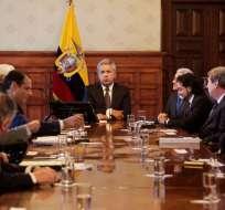 El Secretario Nacional de Comunicación, Andrés Michelena, calificó de histórica la reunión. Foto: API