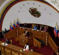 Mandatario juró como presidente electo ante la oficialista Asamblea Constituyente. Foto: AFP