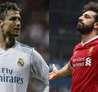 Cristiano Ronaldo y Mohamed Salah, referentes para sus equipos, se enfrentarán en la final de la Champions. Foto: teamtalk.com