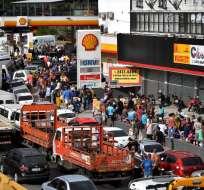 La huelga, contra el aumento de los precios del diésel, impactó en todos los sectores. Foto: AFP